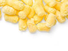 Crunchy corn snacks Stock Photos
