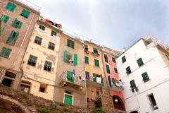 houses in riomaggiore in italy - stock photo
