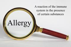 allergy concept - stock illustration