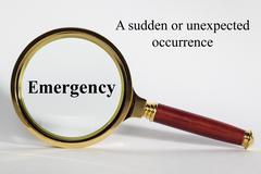 emergency concept - stock illustration
