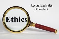 ethics concept - stock illustration