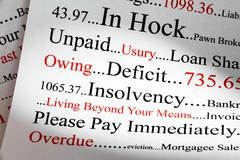 debt concept - stock photo