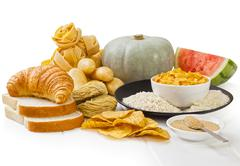 High glycaemic index foods Stock Photos
