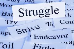struggle concept - stock illustration