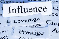 influence concept - stock illustration