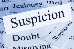 Stock Illustration of suspicion concept