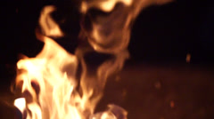 Campfire In Super Slow Motion Stock Footage