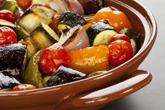 ratatouille roasted mediterranean vegetables - stock photo
