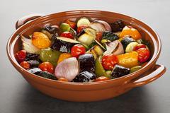 Ratatouille roasted mediterranean vegetables Stock Photos