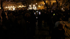 Yavlinskiy at the anti-fascist action Stock Footage