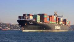 YANG MINGs Container Ship - stock footage