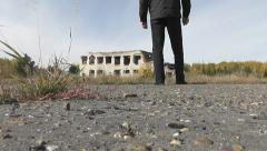 abandoned building - stock footage