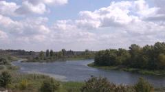 River landscape Stock Footage