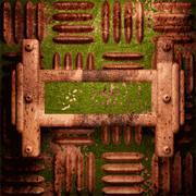 Old metal background Stock Illustration