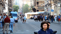 Sicily, Catania, via Etnea, time lapse, timelapse. Stock Footage
