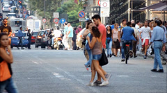 Catania, via Etnea, timelapse, summer. Stock Footage