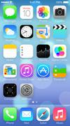 Stock Illustration of IOS 7 icons & homescreen