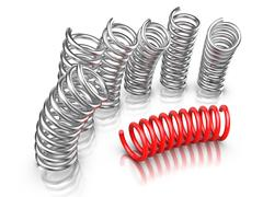 individuality - springs - stock illustration