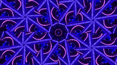 Kaleidosope from a clock watch Stock Footage