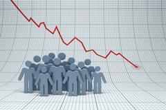 negative trend - stock illustration