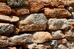 Ancient walls in the ground. Stock Photos