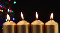 Advent candles with copy space Stock Footage