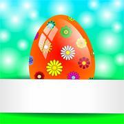 Background easter eggs Stock Illustration