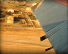 8MM GREECE BEA plane taking off with island landscape views  - 1961 Stock Footage