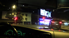 4K Driving POV Timelapse 17 Drivers View Beverly Hills Night Stock Footage