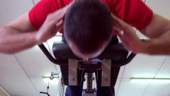 Back workout Stock Footage