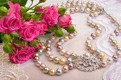 roses and luxury closeup - stock photo