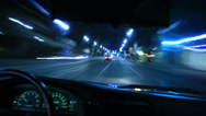 Stock Video Footage of 4K Driving POV Timelapse 18 Drivers View Beverly Hills Night