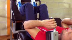 man at the gymnasium - stock footage