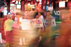 Nightlife at walking street in Pattaya - stock photo