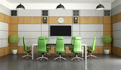 Contemporary meeting room Stock Illustration