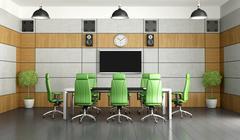 contemporary meeting room - stock illustration