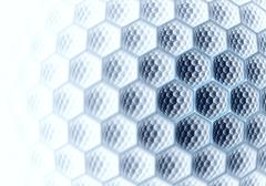 abstract digital fractal hex blue art - stock illustration