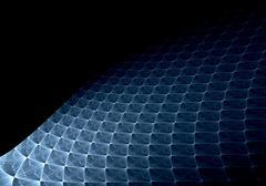 Abstrakti digitaalinen fraktaali neliö sininen Kuvituskuvat
