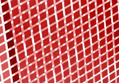abstract digital fractal square red art perspective - stock illustration