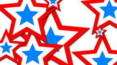 patriotic stars pop up - stock footage