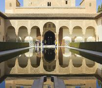 the royal complex of alhambra - stock photo