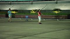 Hanoi - Evening exercise - Walking backward Stock Footage