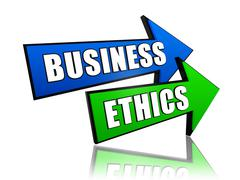 Business ethics in arrows Stock Illustration
