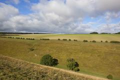 Yorkshire wolds pastures Stock Photos