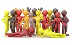 friendship. teamwork. group of people on white isolated background. 3d - stock illustration
