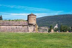 Ciudadela of jaca, a military fortification in spain Stock Photos
