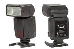 digital auto flash, isolated on white  background - stock photo