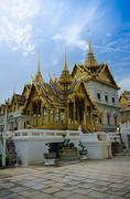 wat prakeaw temple gland palace of thailand - stock photo