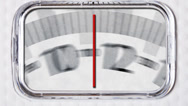 Scale: scale spins to happy and frowny face Stock Footage