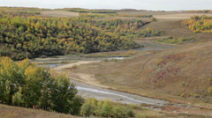 Alberta Coulee in the Fall Stock Footage